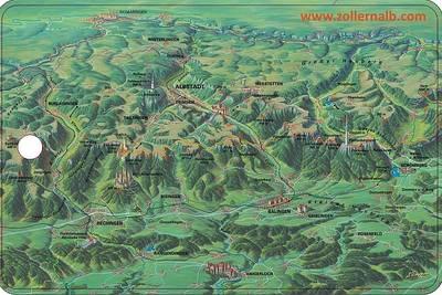 Vesperbrett Panoramakarte