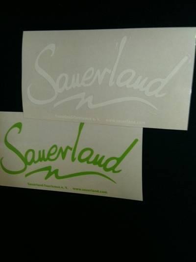 Sauerland-Aufkleber - WEISS