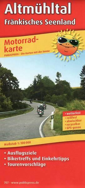 Motorradkarte Altmühltal