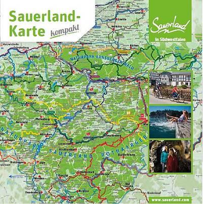 Sauerland Karte Deutschland.Prospekte Sauerland