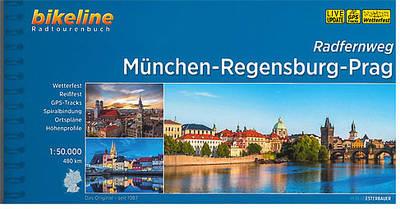 München - Regensburg - Prag Radwanderkarte 12,99