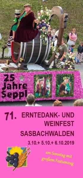 Winzerfest Flyer