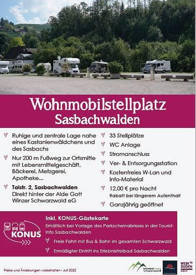 Wohnmobilstellplatz Sasbachwalden