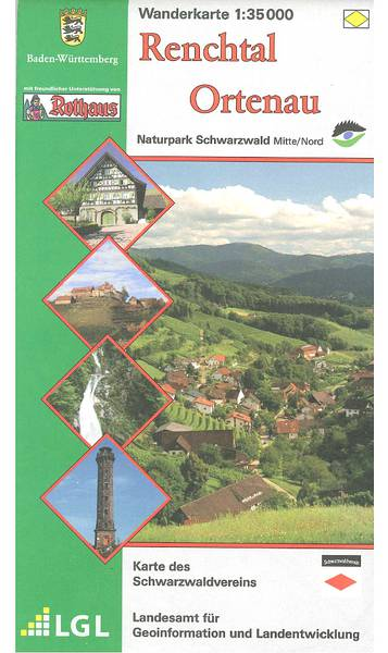 Wanderkarte Renchtal - Ortenau