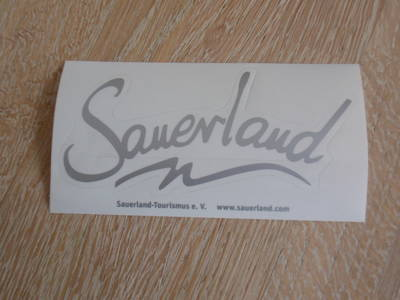 Sauerland-Aufkleber - SILBER