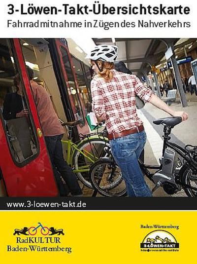Übersichtskarte zur Fahrradmitnahme in Zügen des Nahverkehrs