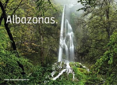 "Postkarte \""Albazonas\"" (Uracher Wasserfall)"