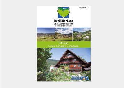 Ortsplan Simonswald, Gutach im Breisgau und Gütenbach
