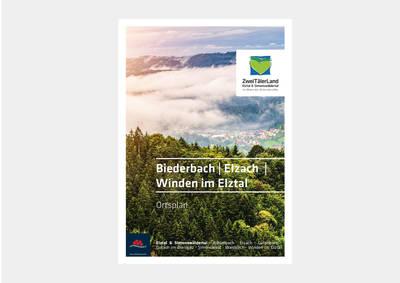 Ortsplan Biederbach, Elzach, Winden im Elztal