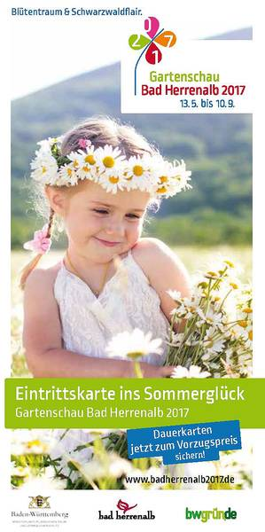 Gartenschau Bad Herrenalb 2017 - Flyer