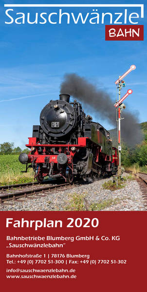 Fahrplan Sauschwänzlebahn 2019
