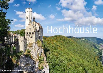"""Postkarte \""""Hochhäusle\"""" (Schloss Lichtenstein)"""