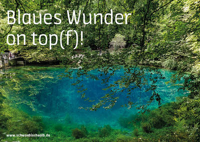 "Postkarte ""Blaues Wunder on top(f)\"" (Blautopf)"