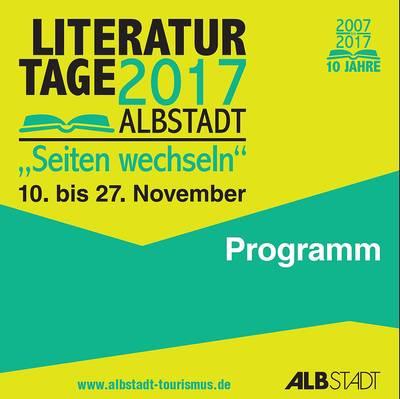 Literaturtage 2017 - Programmheft