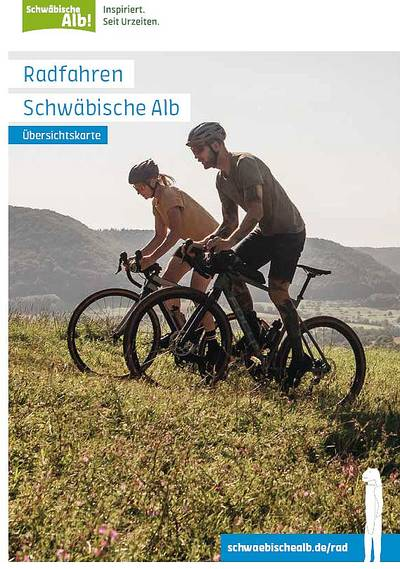Radfahren Schwäbische Alb - Übersichtskarte zum Radmagazin 2019