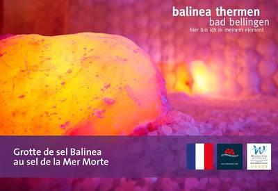 Grotte de sel Balinea au sel de la Mer Morte