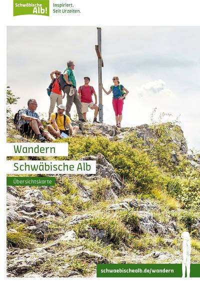 Wandern Schwäbische Alb - Übersichtskarte zum Wandermagazin 2019