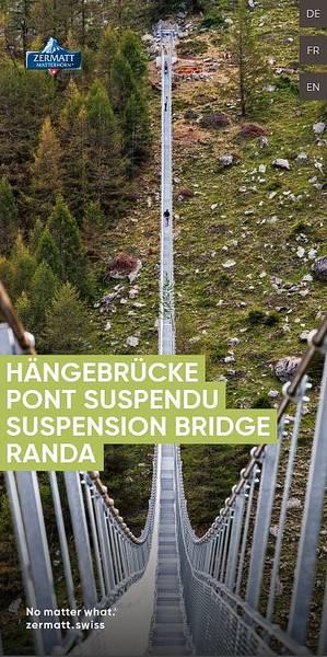 Pont suspendu à Randa