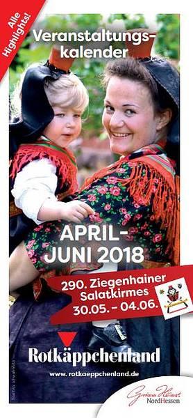 Veranstaltungskalender April - Juni 2018