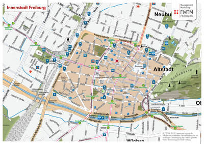 Freiburg Map City Center