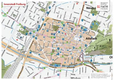 Freiburg Plan de ville