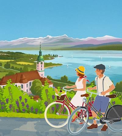 Rad fahren am Bodensee- Tourenkarte