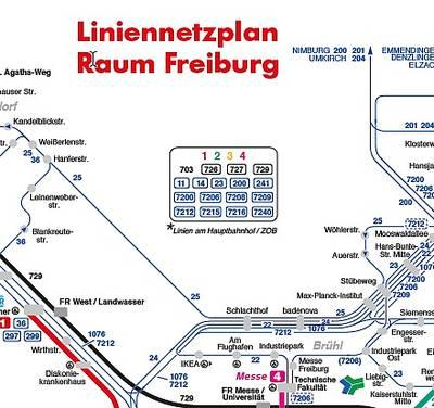 RVF - Liniennetzplan Raum Freiburg