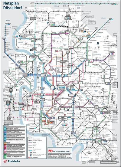 Rheinbahn Linienplan DE/EN