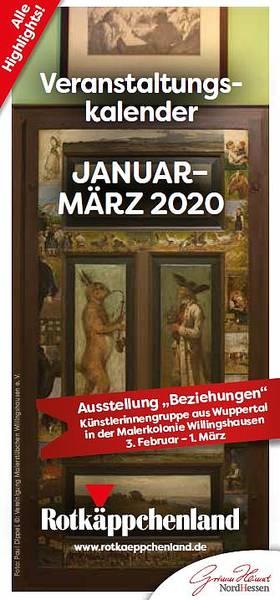Veranstaltungskalender Januar - März 2020