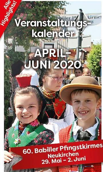Veranstaltungskalender April - Juni 2020