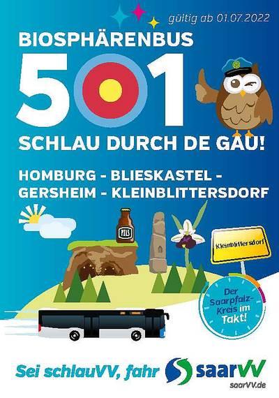 Fahrplan Biosphärenbus 501