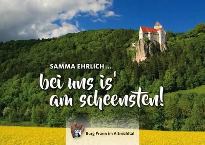 Postkarte Burg Prunn