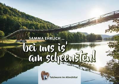 Postkarte Holzbrücke Tatzlwurm