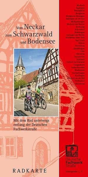 """Radkarte \""""Vom Neckar zum Schwarzwald und Bodensee\"""""""