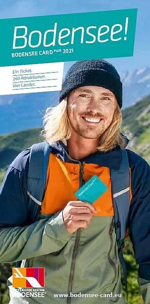 Erlebniskarte Bodensee Card PLUS Flyer 2021