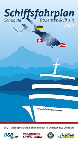 Schifffahrtsplan der Bodensee Schifffahrt