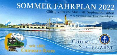 Winterfahrplan Chiemsee Schifffahrt 2020/21