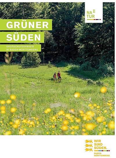 Grüner Süden - Faltkarte der Großschutzgebiete
