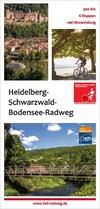 Heidelberg-Schwarzwald-Bodensee-Radwegkarte